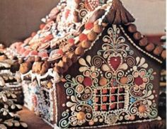 Boho gingerbread house