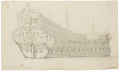 velde, willem a dutch ship, Liverpool Docks, Old Sailing Ships, Ship Drawing, Ship Paintings, Wooden Ship, Maritime Museum, Dutch Painters, Ship Art, Old Master