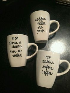 custom personalized coffee mug by katiesvinylkreations on etsy