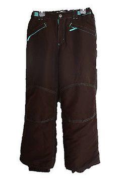 Cherokee Girls Snow Ski Pants Chocolate Brown Teal Winter Size 10 12 L Large