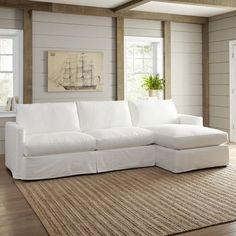 Birch Lane™ Heritage Kearney Sectional Sectional Orientation: Right Facing, Upholstery: Bayou Natural