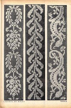 Filet Crochet, Crochet Chart, Thread Crochet, Crochet Snowflake Pattern, Crochet Borders, Knitting Charts, Knitting Patterns, Crochet Patterns, Crewel Embroidery