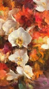 Anna Lee, Fine Art Gallery, Orchids, Flower Paintings, Abstract Paintings, Oil Paintings, Floral, Flowers, Artist