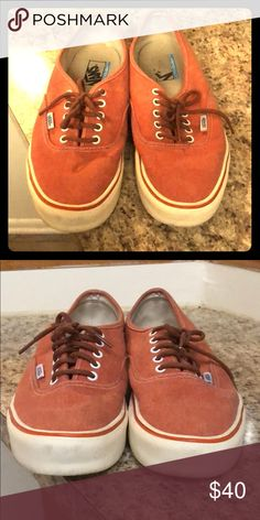 Size 11 burnt orange vans Great condition. Only worn two or three times. Ultracush lite edition. Extremely comfortable. Vans Shoes Sneakers