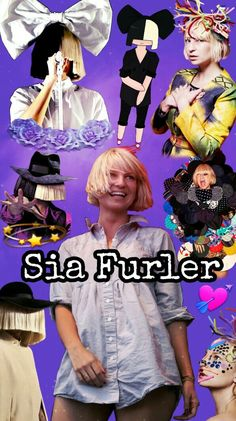 Sia, Sia Furler #Wallpapers #Collage #PapeldeparedeSia #Sia #SiaFurler