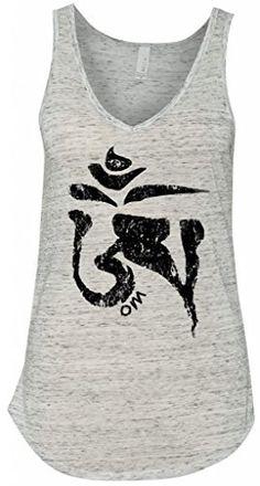 Yoga Clothing For You Ladies Tibet OM White Marble Tank Top  Price : $24.99 http://yogaclothingforyou.hostedbywebstore.com/Yoga-Clothing-For-You-Ladies/dp/B00OZW2RUU