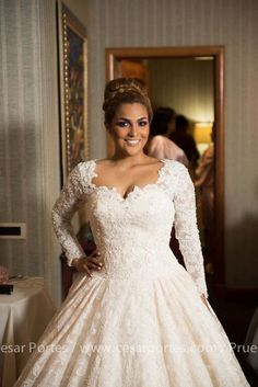 Cly Champagne Wedding Dress With Sleeves By Weddingdressfantasy Vintage Inspired Dresses Pinterest