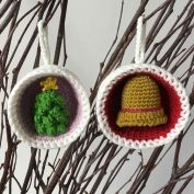 Christmas Bauble Ornaments, Snowman & Penguin - Allcrochetpatterns.net