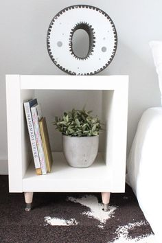 Turn a 1x1 cubby into a sleek side table. | 33 Gorgeous DIY Projects To Decorate Your Grown Up Apartment