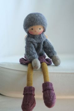 """Knitted doll Ivy 14"""" by Peperuda dolls"""