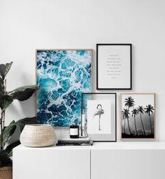 Feelings Poster– 30x40Flamingo black and white Poster– 21x30Palm trees Poster̵...