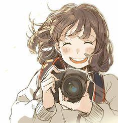 Girl With Brown Hair, Girl Short Hair, Hair Illustration, Character Design Girl, Anime Girl Drawings, Ecchi, Anime Japan, Girls Characters, Manga Girl