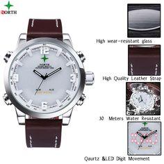 LED relógio digital Homens Sport Watch Correr LCD Relógio de pulso Waches Men Digital Analógico-Watch Men Quartz-Watch Sports Reloj Hombre