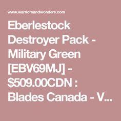 Eberlestock Destroyer Pack - Military Green [EBV69MJ] - $509.00CDN : Blades Canada - Vancouver, BC
