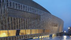 Facade Detail of Centre De Congres A Mons Completed in Belgium by Daniel Libeskind