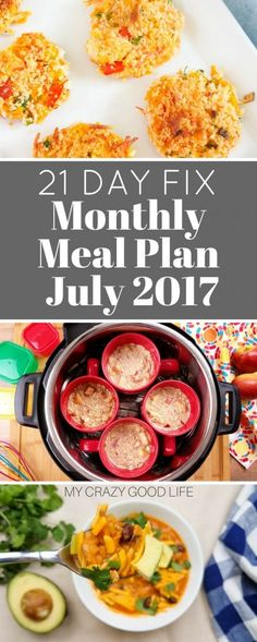 It's a busy time of year. When I get busy I have to have a meal plan. This 21 Day Fix monthly meal plan for July is keeping me on track. via @bludlum