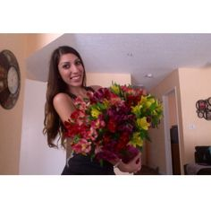 Every girl should feel loved. who doesn't like getting flowers? Big bouquets of flowers?! :)