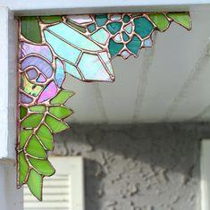 Fairy Garden Corner Crystal corner stained glass corner