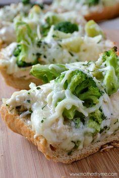 Chicken Alfredo Garlic Bread Pizza - Yields 8 to 10 Servings