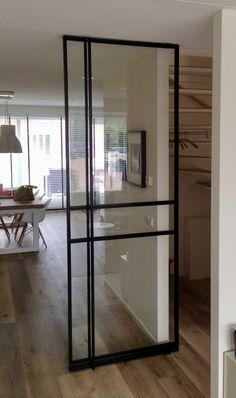 Barn Windows, Windows And Doors, Home Interior Design, Interior And Exterior, Steel Frame Doors, Sliding Pantry Doors, Steel House, House Stairs, Iron Doors