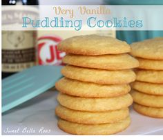 Very Vanilla Pudding Cookies  l  Sweet Bella Roos