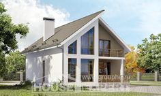 170-006-L Two Story House Plans and mansard, economical Planning And Design