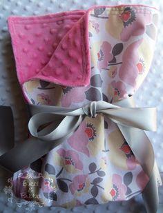 Baby Girl Large 30 x 36 Stroller Blanket in by BucciAndBubba, $33.00