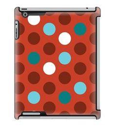 Uncommon LLC Bubble Dots Red Deflector Hard Case for iPad 2/3/4 (C0060-OQ)