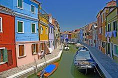 The village of Burano, near Venice.