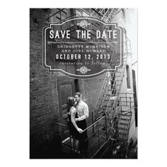 Jeune Amour By Origami Prints Save The Date Invitation Card