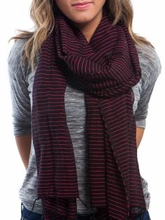 black and red scarf - FashionABLE || Working with women, both locally and globally, who have overcome challenges ranging from prostitution to addiction to a lack of opportunity.