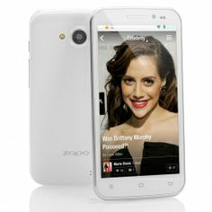 ZOPO ZP820 Android 4.2 Mobile Phone - MT6582 Quad Core 1.3GHz CPU, 4GB Internal Memory, 5 Inch 960x540 Screen (White)