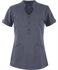 Shop for Ladies Solid Fashion Scrub Tops at Uniform Advantage and update your look! Find all kinds of styles, including mock wrap scrubs, empire waist scrubs, and more. Spa Uniform, Scrubs Uniform, Scrubs Pattern, Medical Scrubs, Nursing Scrubs, Uniform Advantage, Medical Uniforms, Collar Top, Scrub Tops