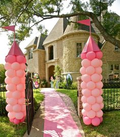 Princess balloon columns