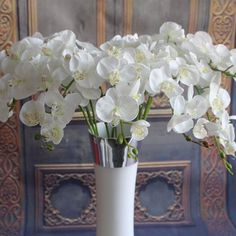 GNW FL-OK98-36-9 Latest design Cheap White Artificial silk orchid flower china flower suppliers