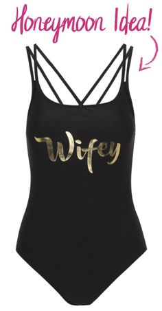 For all you brides to be... This Wifey Swimsuit is fab for your honeymoon!