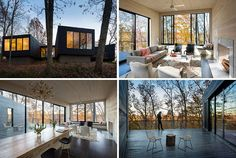 Virginia based architects, ARCHITECTUREFIRM, have designed a river house on a wooded site for a family with three young boys.