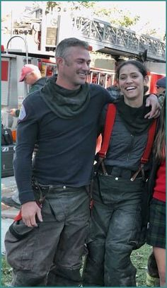 Kelly Severide and Stella Kidd in Chicago Fire Estefan Salvatore, Chicago Crossover, Taylor Kinney Chicago Fire, Female Firefighter, Jake Miller, Teen Wolf Boys, Chicago Shows, Chicago Med, Great Tv Shows