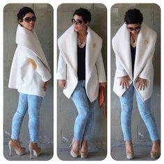 mimi g.: OOTD: DIY Coat w/ Floral Skinnies + Pattern Review V1263