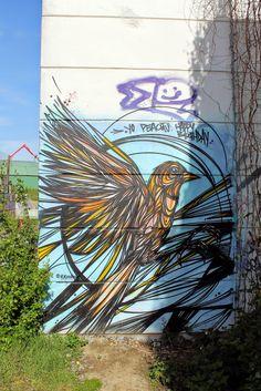 Wall paints, Muurschilderingen, Peintures Murales,Trompe-l'oeil, Graffiti, Murals, Street art.: Mechelen - Belgium Dzia