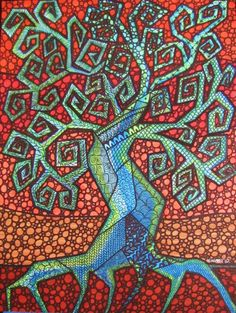 Tree of Life - love the colors and patterns, a little less angular and it would be awesome