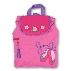 9f4e668a08 Stephen Joseph Ballet Shoes Quilted Toddler Backpack Embroidered Baby  Blankets