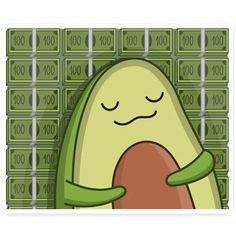 Pusheen Love, Avocado Cartoon, Cute Avocado, Fun Illustration, Diy For Kids, Memes, Kawaii, Valentines, Bird