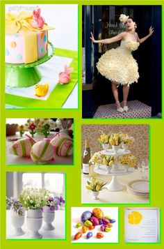 Great Easter wedding theme and colours