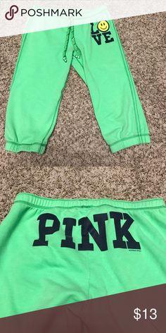 Pink Capri pj pants Pink pj Capris in good condition PINK Victoria's Secret Intimates & Sleepwear Pajamas