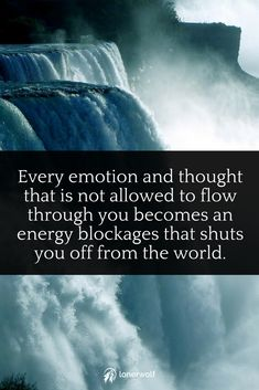 Let go, let flow. Don't resist your emotions, allow them.