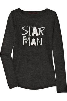 Bella Freud Star Man intarsia wool sweater