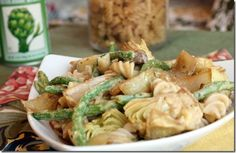 Creamy Artichoke and Green Bean Rotini   this woman's recipes are all gluten and meat free
