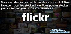 Flickr pour un espace de stockage illimité pour les photos de vacances