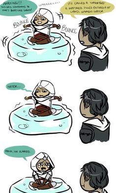 Assassins Creed humor Altaïr afraid of water